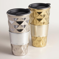 Quilted Porcelain Non-Paper Cups, Set of 2 - World Market