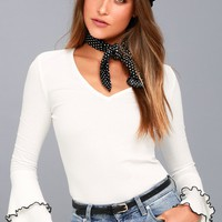 Lolita White Long Sleeve Top