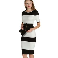 Stripe Out Midi