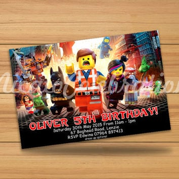 Lego Superheroes Design Invitaion - Digital File