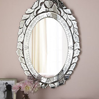 """Ernhart"" Oval Venetian-Style Mirror - Horchow"