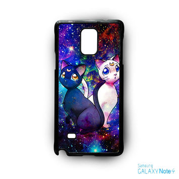 Sailor Moon Luna And Artemis Cat for Samsung Galaxy Note 2/Note 3/Note 4/Note 5/Note Edge phone case