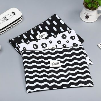New A4 black white Oxford Fabric File Folder Bag Office Supplies Organizer Bag Document Organizer Document bag 4 style