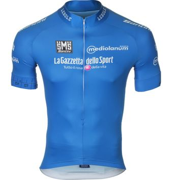 Santini King Of The Mountain Jersey - Short-Sleeve - Men's Blue,