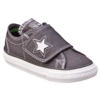 Toddler's Converse? One Star? One Flap Canvas Oxford Shoe - Charcoal