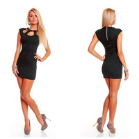 New Arrivals Women Lady Sleeveless High stretchy Sexy clubwear dress Dancing queen Dress Sexy Office lady dress With G-string