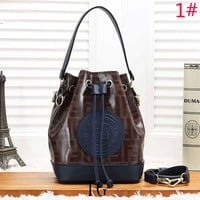 Fendi Fashion New More Letter Leather Shopping Leisure Shoulder Bag Women Bucket Bag