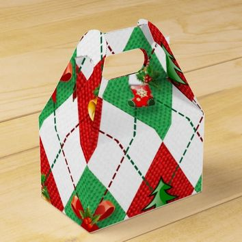 christmas pattern, cartooned favor box