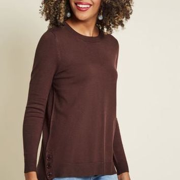 Charter School Tunic Sweater in Chocolate
