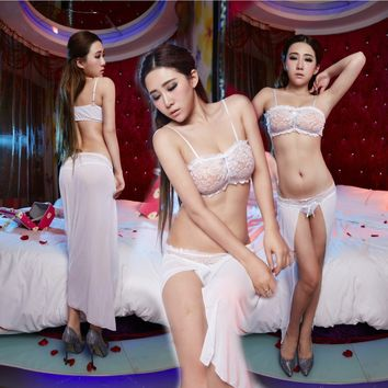 On Sale Cute Hot Deal Lace Sexy Maxi Dress Vacation Prom Dress Exotic Lingerie [6596830787]