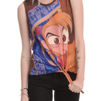 Disney Aladdin Angry Abu Tie Front Top