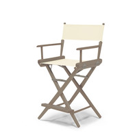 Rustic Grey World Famous Director Chair- Counter Height - Natural Cover
