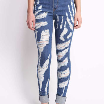 Krueger Shred High Waist Skinny Jeans