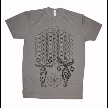 Men's Origins Flower of Life Mandrake People Seed of Life Shirt Sacred Geometry