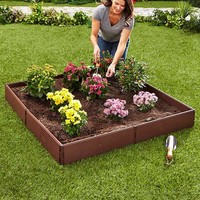 Raised Garden Bed Set Configurable Polypropylene Adjustable Flower Herbs Vegetable