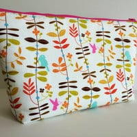 Wrens and Friends Extra Large Cosmetic Bag Toiletry Bag Travel Bag Makeup Bag