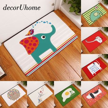 Autumn Fall welcome door mat doormat decorUhome Entrance Waterproof  Cartoon Elephant Kitchen Rugs Bedroom Carpets Decorative Stair Mats Home Decor Crafts AT_76_7
