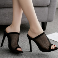 Hot style hot with network surface cool simple slippers