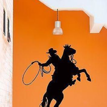 Wall Stickers Cowboy Texas Wild West for Garage Unique Gift z1276