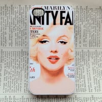 Marilyn Monroe iPhone 4 Case 4s Case Cover Hard Plastic Vanity Fair - white case
