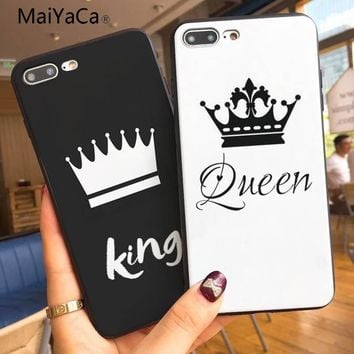MaiYaCa King and Queen Coque Shell Phone Case  For Apple iphone 7 7plus X 8 8plus 6s 6 6plus 5 5s XR XSMax