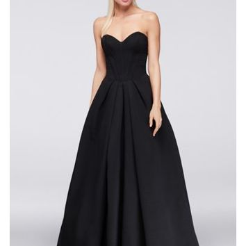 Faille Ball Gown with Corset Bodice - Davids Bridal