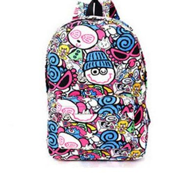 Student Backpack Children Fashion Women Graffiti Backpacks 2018 New Summer Cartoon Printing Students Backpack School Bag Unisex Travel Backpack AT_49_3