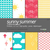 Digital paper pack of 8 sheets Ice cream cold 106
