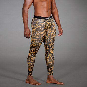 Baroque Pattern Tights for Men