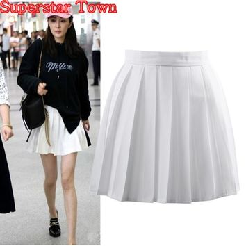 White Pleated Skirts Summer Female Skirt High School Uniform Japan Clothes Harajuku Uniform Skirts Women Saias