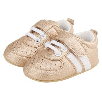 Unisex Baby Velcro And Lace Crib Shoes, Various Colors and Sizes Available