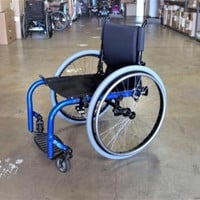 "Ki Mobility Rogue Rigid Manual Wheelchair - Candy Blue - 18"" x 18"" 