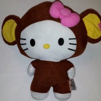 Large 10 Chimp Monkey Hello Kitty Big Top Circus Animal Plush Doll