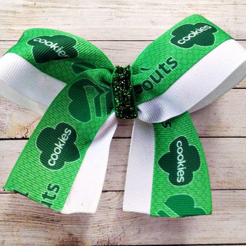 Girl Scout Mini Cheer Bow