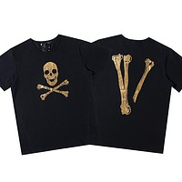 Vlone Asap Rocky Japan Limited Halloween Skull Big V Short Sleeve T Shirt