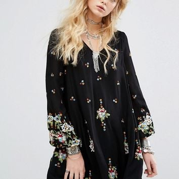 Free People Oxford Embroidered Mini Dress at asos.com