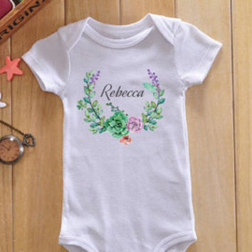 Personalized baby girl bodysuit, custom baby girl Onesuit, custom baby girl gift, custom baby girl clothes, personalized baby girl gift