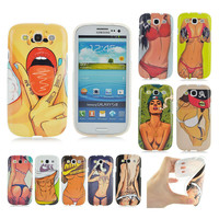 New arrivel beautiful woman sexy girl case for samsung galaxy SIII i9300 soft TPU cover phone case for samsung s3