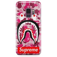 Supreme Bape Camo Shark Samsung Galaxy S9 Plus Case | Casefantasy