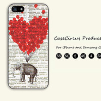 Elephant,Balloon,iPhone 5 case, iPhone 5C Case, iPhone 5S , Phone case,iPhone 4 Case, iPhone 4S Case,Samsung Galaxy S3, S4