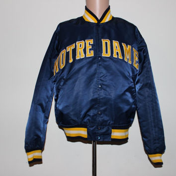 Vintage Notre Dame Fighting Irish Satin STARTER NCAA Jacket M