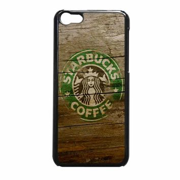 Starbuck Coffe On Wood iPhone 5c Case