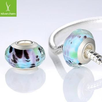 925 Sterling Silver Fascinating Murano Glass Beads Fit Pandora Bracelet Bangles Charms