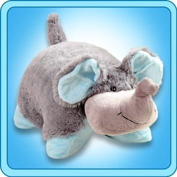 Nutty Elephant Grey Blue Trunk Pillow Pets Pee Wees