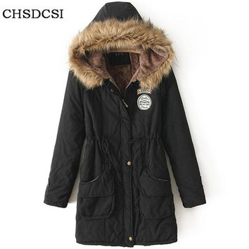 Winter Women Jackets 2017 Parkas For Woman 13 Colors Wadded Jackets Warm Outwear With A Hood Large Femme Thick Coats