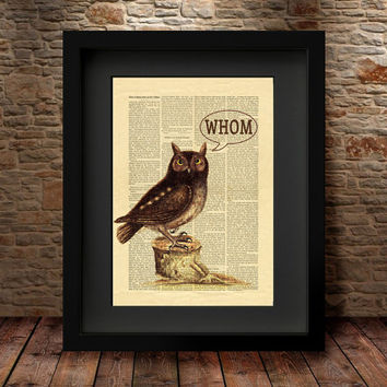 Owl decor, Owl wall decor, Whom Owl Print, Bird Owl painting, Living room art print, Bird print, Wall Art Print, Home Decor, Owl picture -36