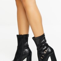 Mary Jane Ankle Boot - Black