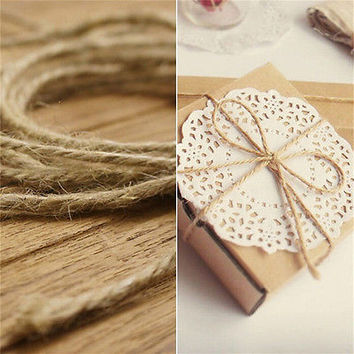 33M Christmas Hemp Rope Cord Marline for Wedding Favors Candy Boxes DIY Decor HC