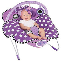 Sassy Cuddle Bug Bouncer, Violet Butterfly Musical Sleep Infant Blanket Toys New