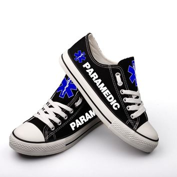 Custom Printed Low Top Canvas Shoes - Paramedic